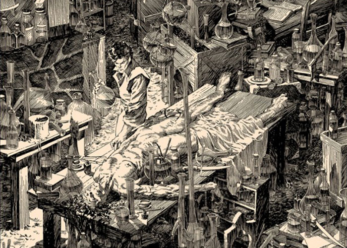 Nakatomi Inc. Presents A Filthy Process by Bernie Wrightson