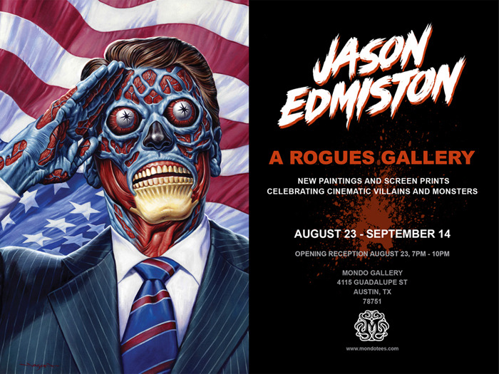 Mondo Gallery Show First Look – Jason Edmiston – A Rogue's Gallery