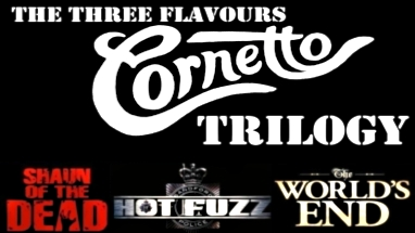 Three Flavours Cornetto trilogy screening (Shaun of the Dead, Hot Fuzz and The World's End) at the Alamo Drafthouse in Austin, TX