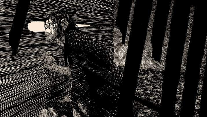 """Close Attention"" Nakatomi's FINAL print in this series of Frankenstein images by the great Bernie Wrightson"