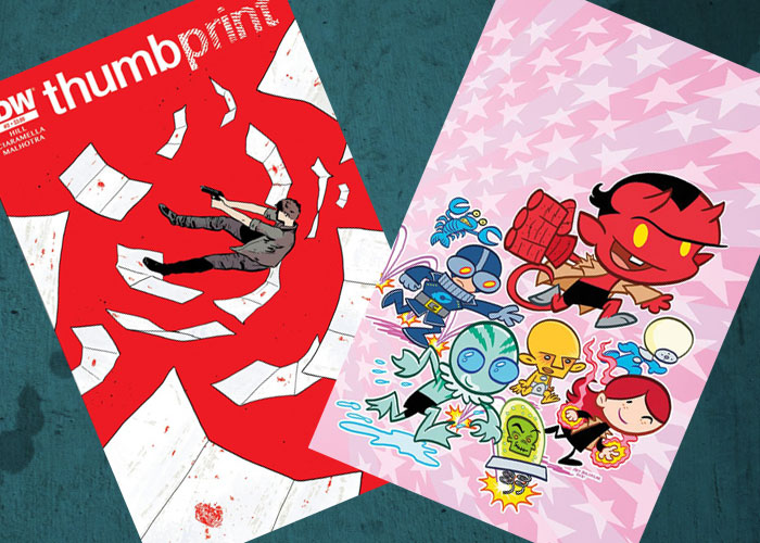 Kit's Comics In Review – Itty Bitty Hellboy and Thumbprint!