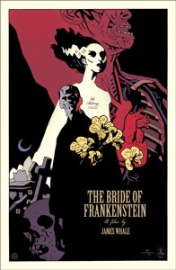 The Bride of Frankenstein Screen Print by Mike Mignola