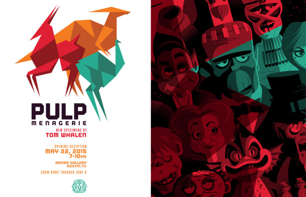 Mondo Gallery Presents Pulp Menagerie by Tom Whalen