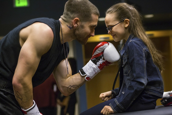 JAKE GYLLENHAAL and OONA LAURENCE star in SOUTHPAW