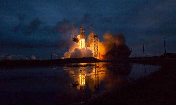 The United Launch Alliance Delta IV Heavy rocket with NASA's Orion spacecraft mounted atop, lifts off from Cape Canaveral Air Force Station's Space Launch Complex 37 at at 7:05 a.m. EST, Friday, Dec. 5, 2014, in Florida. The Orion spacecraft orbited Earth twice, reaching an altitude of approximately 3,600 miles above Earth before landing in the Pacific Ocean. No one was aboard Orion for this flight test, but the spacecraft is designed to allow us to journey to destinations never before visited by humans, including an asteroid and Mars. Photo credit: (NASA/Bill Ingalls)